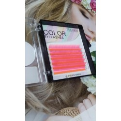 Fluorescentinės  blakstienos Eyelash Maker mix red orange sp.