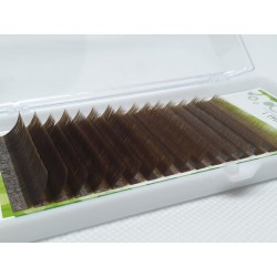 O'Clair MIX L CURVE 0.07 brown color eyelashes